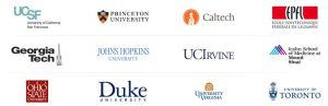 Several university in the Coursera project