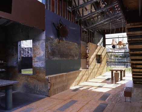 ScrapHouse interior (Photo by Cesar Rubio copyright Public Architecture 2005)