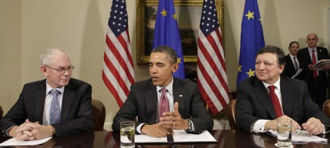 Herman Van Rompuy, Barack Obama and José Manuel Barroso. Photo: The Council of the European Union
