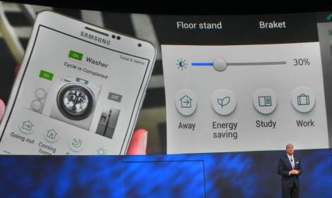 CES 2014 Samsung press event introducing Smart Home platform