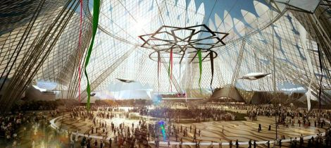 Dubai Expo 2020 header rendering