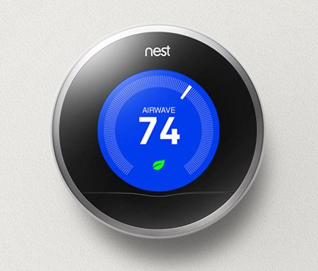The famous Nest thermostat, a disruptive product and a cutting edge solution in the home automation market.