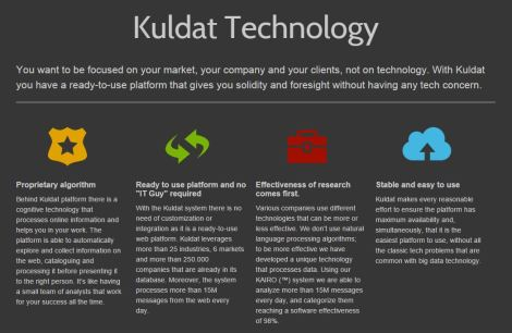 Kuldat technology infographic