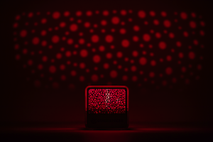 Cube glowing red
