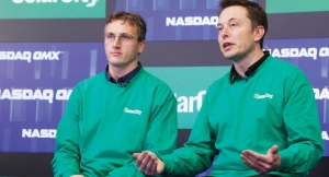 SolarCity Lyndon Rive, left, with his PayPal cousin, Elon Musk