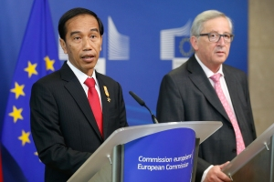 Indonesia President Joko Widodo in Brussels
